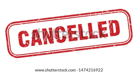 cancelled stamp. cancelled square grunge sign. cancelled Foto stock ©