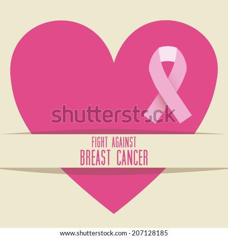 Cancer design over beige background vector illustration