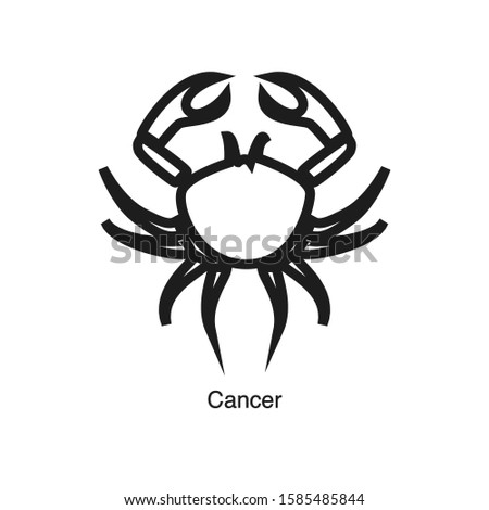 Cancer linear icon vector on white background. Black icon illustration Stock foto ©