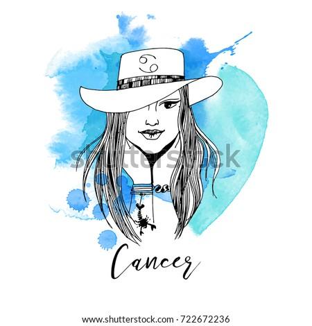 Cancer. Zodiac signs girl