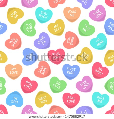 candies seamless hearts pattern