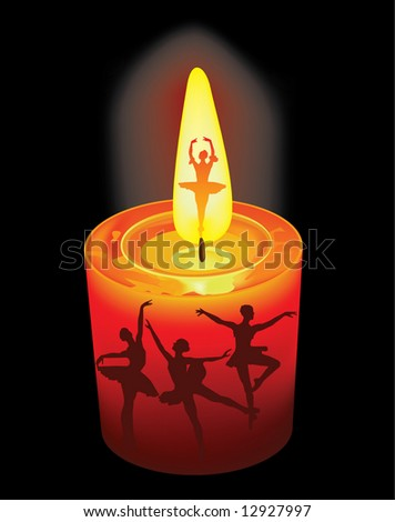 candle and ballet