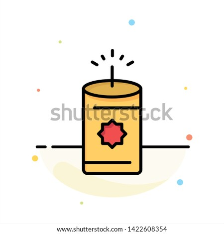 Candle, China, Chinese Abstract Flat Color Icon Template