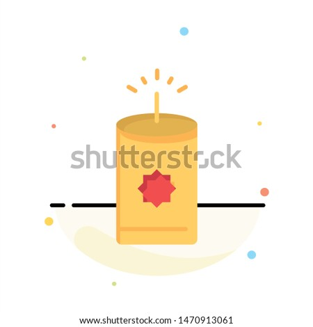 Candle, China, Chinese Abstract Flat Color Icon Template. Vector Icon Template background