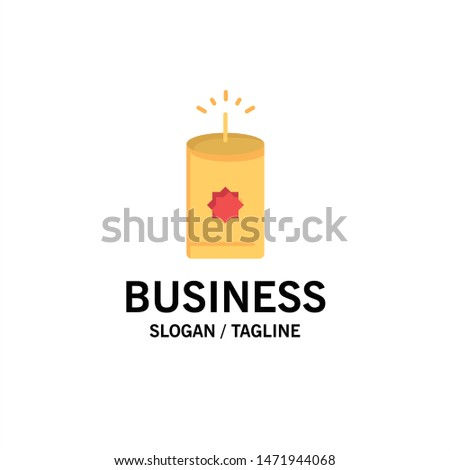 Candle, China, Chinese Business Logo Template. Flat Color