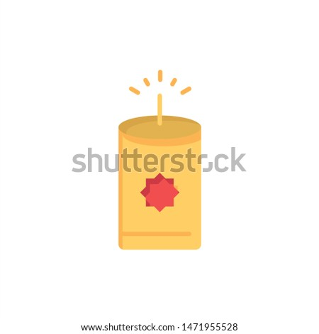Candle, China, Chinese  Flat Color Icon. Vector icon banner Template