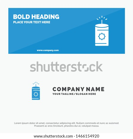 Candle, China, Chinese SOlid Icon Website Banner and Business Logo Template. Vector Icon Template background