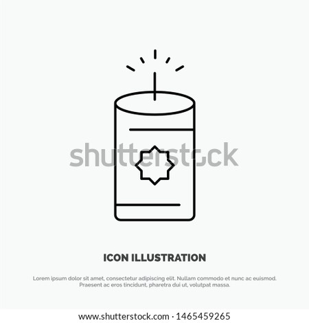 Candle, China, Chinese Vector Line Icon. Vector Icon Template background