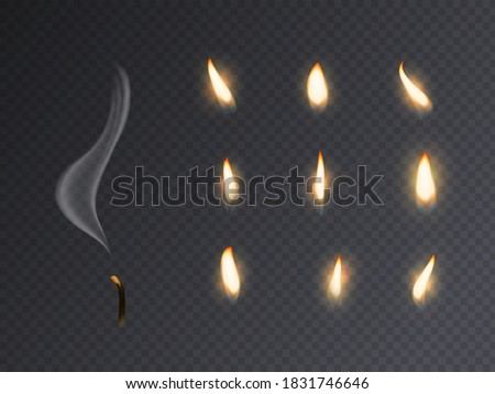 candle fire flame realistic