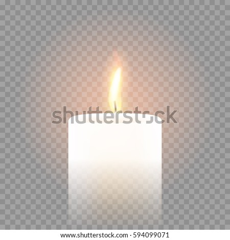 candle flame burning on vector