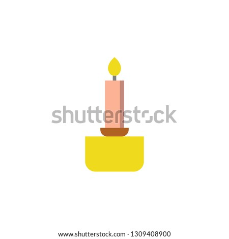 Candle icon. Element of Valentine day icon for mobile concept and web apps. Detailed Candle icon can be used for web and mobile