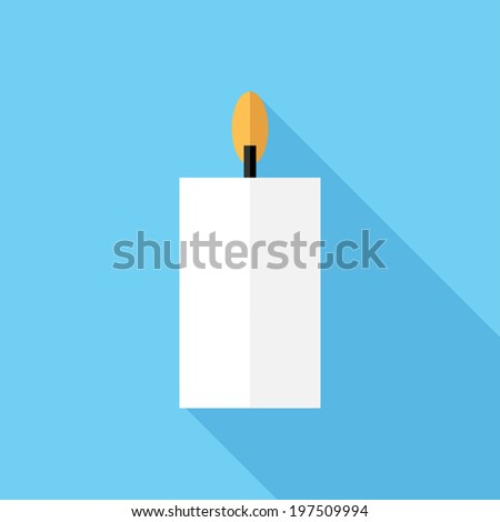 Candle icon. Flat design style modern vector illustration. Isolated on ...: www.shutterstock.com/pic-197509994/stock-vector-candle-icon-flat...