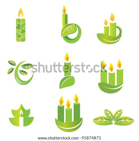 Candle Icon Set Stock Vector 95874871 : Shutterstock: www.shutterstock.com/pic-95874871/stock-vector-candle-icon-set.html