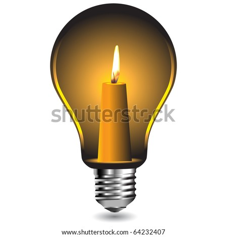 candle in a bulbvector