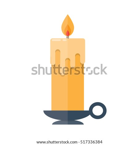 candle in candlestick isolated