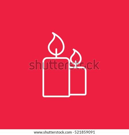 candle light burn wax white