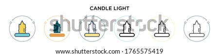 candle light icon in filled