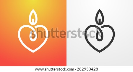 candle light romantic logo