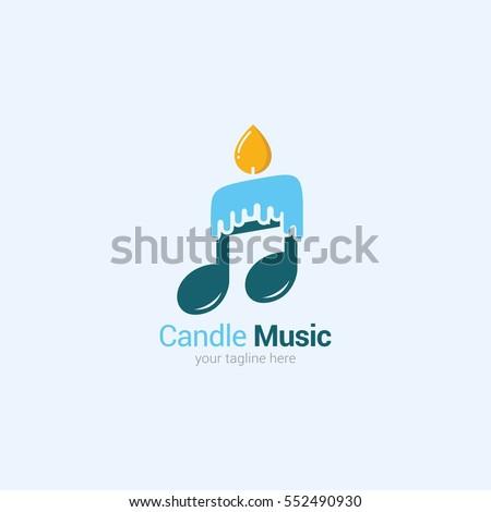 candle music logo design