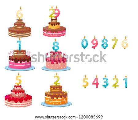 candle numbers for cake