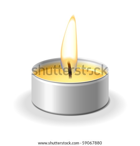 candle on white vector