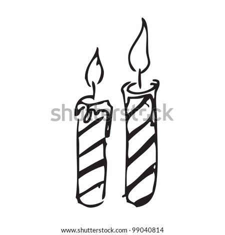 Candle vector doodle