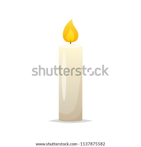 Candle vector isolated
