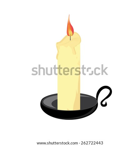candle with black holder