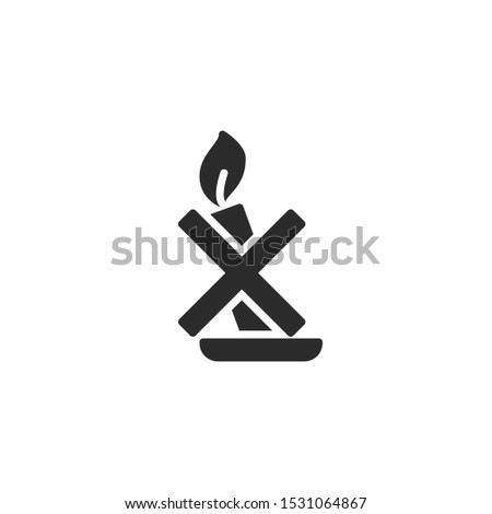 Candles filled icon. Labeled for fire safety. Labeling for wax candles. Sings for desing, for a website, for label printing.