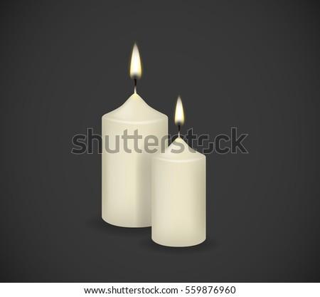 candles flames fire light