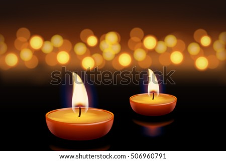 candles with lights