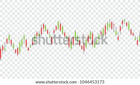 Candlestick strategy indicator with bullish and bearish engulfing pattern is a style of financial chart, Suitable for forex stock market investment trading concept (Transparency only in vector file)
