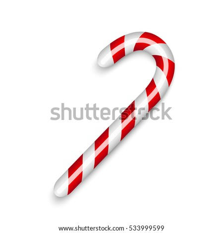 Candy cane Christmas decor. Vector illustration.