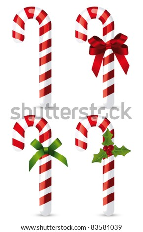 Candy cane collection. Vector