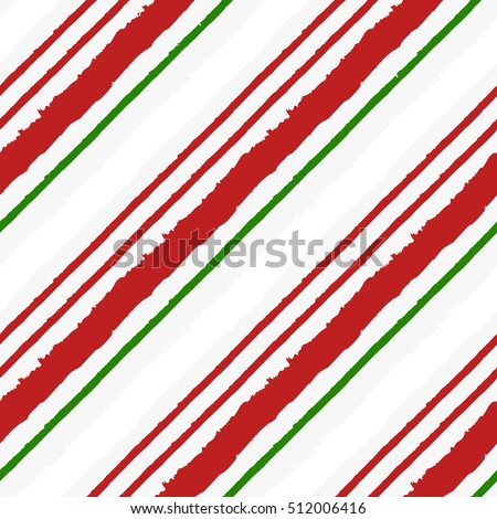 Candy Cane Grunge Stripes Seamless Pattern. Great for Christmas projects, wrapping paper, backgrounds or printed on fabric or textile.