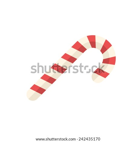 Candy cane icon (flat design)