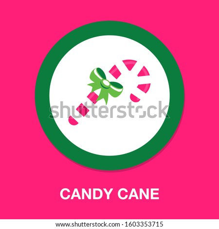 candy-cane icon. flat illustration of candy-cane - vector icon. candy-cane sign symbol