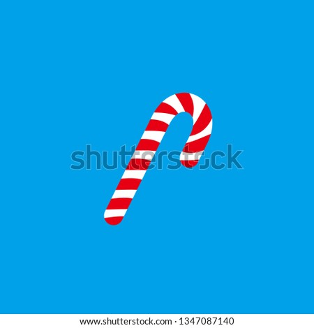 Candy cane icon.Vector candy cane.  Christmas symbol. Stripped candy cane
