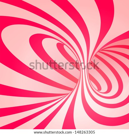 Candy cane sweet spiral abstract background - stock vector