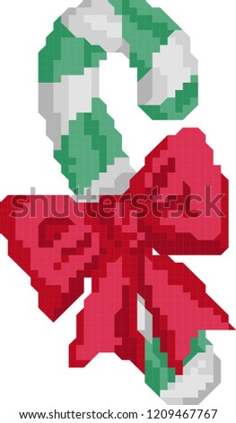 Stock Photo candy canes pixel