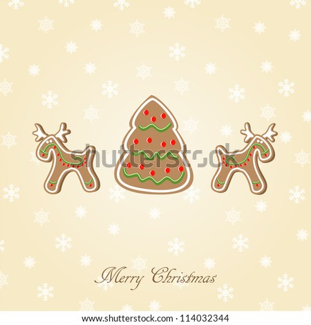 Candy Christmas card. Vector illustration