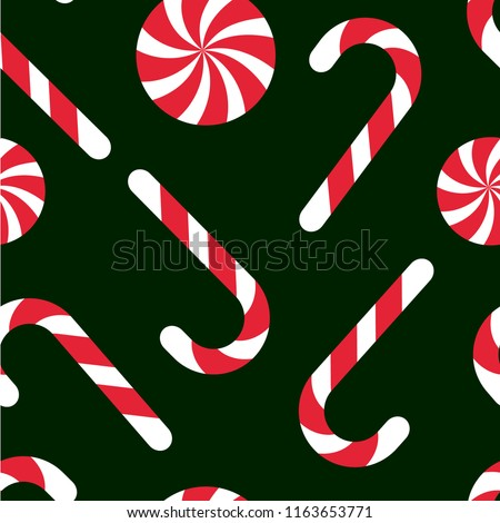 Candy chritsmas seamless pattern. Vector