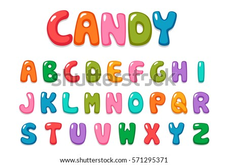 Candy color kid font