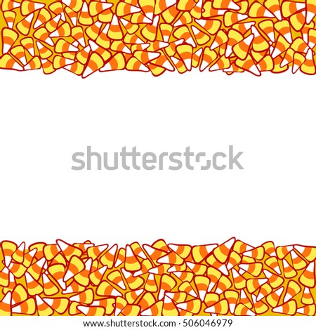 candy corn double border