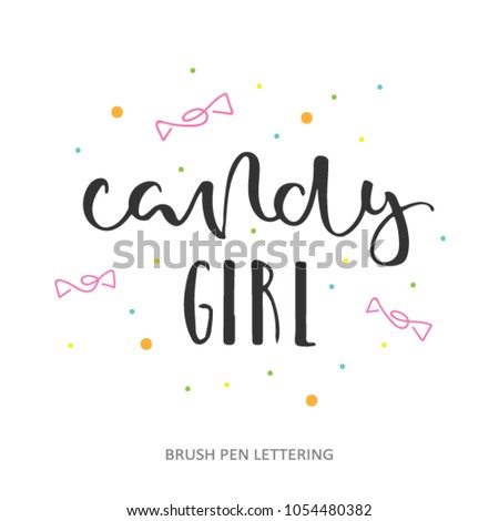 candy girl   hand lettering