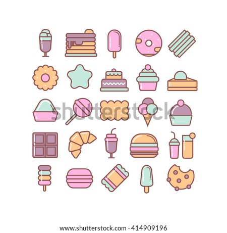 candy illustration dessert