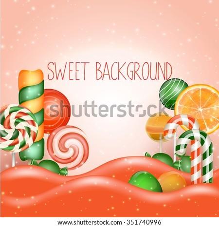 candy land backgroundvector
