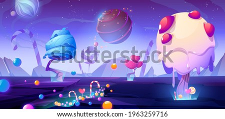 candy planet cartoon poster