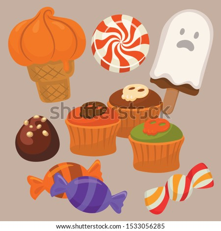 Candy set for a halloween party