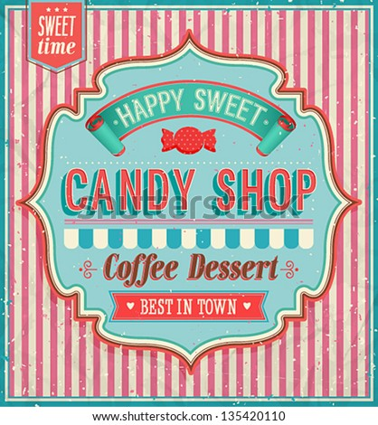 candy shop vector illustration